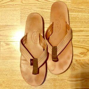 Rainbow Sandal- Light Pink Leather